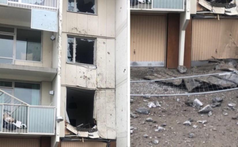 Sprängning gick fel – vägg demolerad