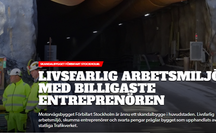 SKANDALBYGGET FÖRBIFART STOCKHOLM
