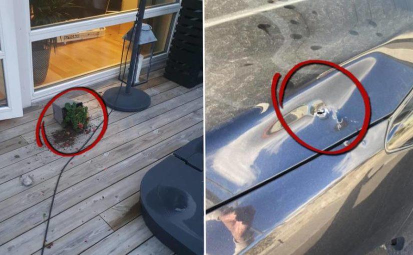 Stenar flög in i Rikstens friluftstad vid sprängning